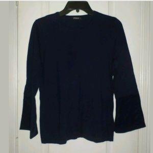 S J. McLaughlin Navy Cashmere Blend Sweater
